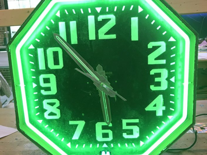 restored Old octagonal clock