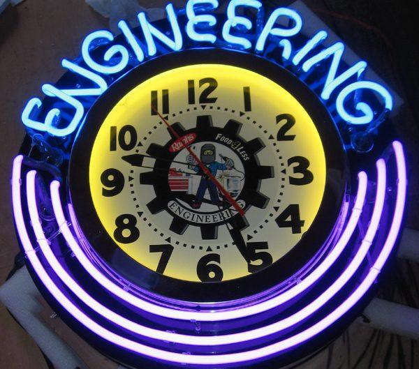 custom neon clock