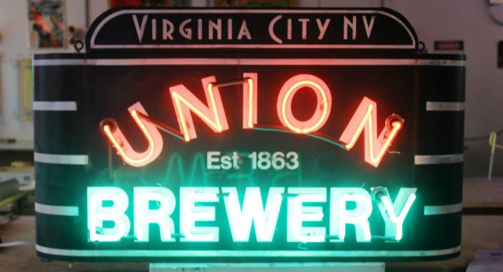 vintage style neon sign