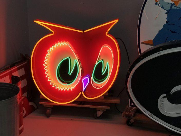vintage neon owl