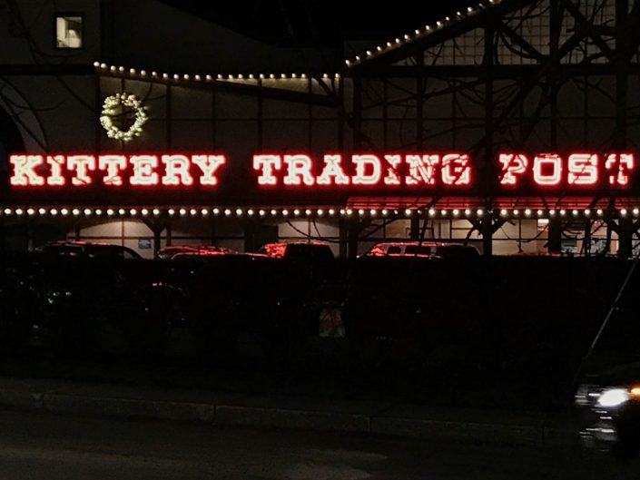 Kittery Trading Post open neon