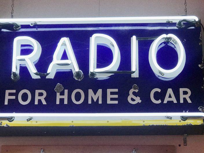 motorola porcelain neon Radio sign